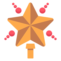 Christmas star tree topper icon