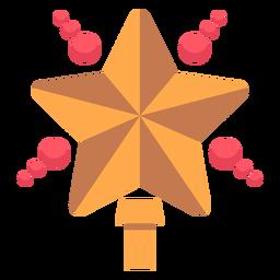 Icono de estrella de árbol de Navidad
