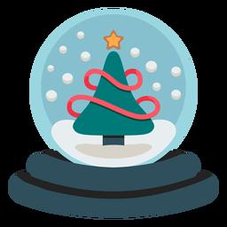 Icono de globo de nieve de árbol de Navidad