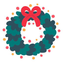 Christmas wreath icon christmas