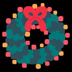 Icono de corona de navidad navidad