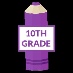 Color pencil school 10th grade icon