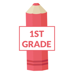 Color pencil school 1st grade icon
