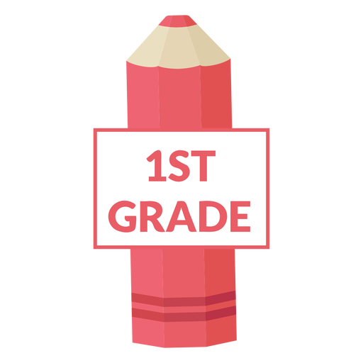 Color pencil school 1st grade icon