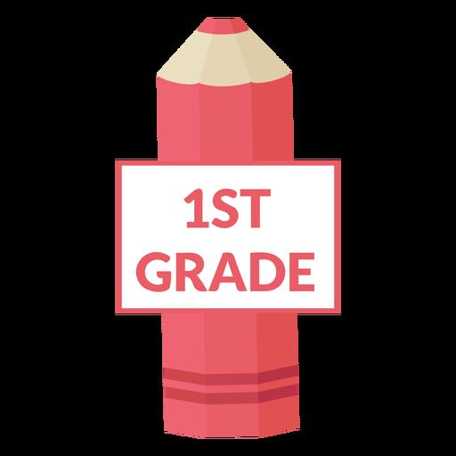Ícone de lápis de cor da escola de primeira série