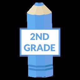 Ícone de lápis de cor da escola de 2ª série