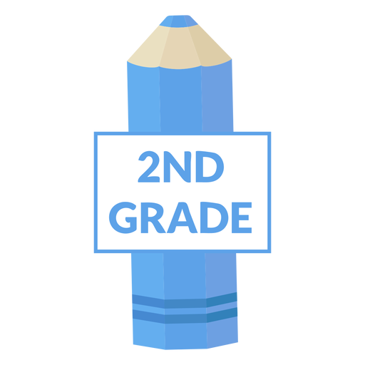 Color pencil school 2nd grade icon Transparent PNG