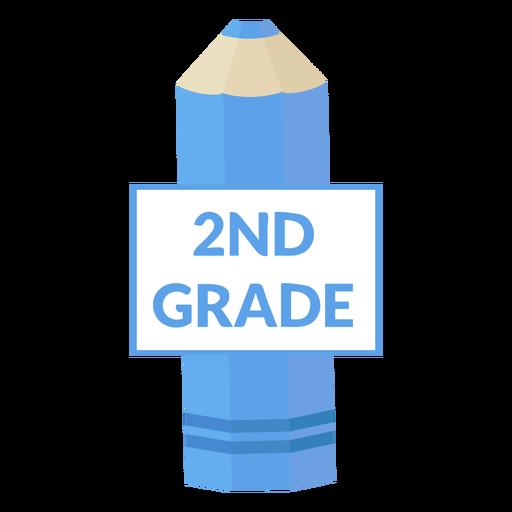Icono de segundo grado de escuela de lápiz de color