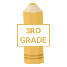 Color pencil school 3rd grade icon