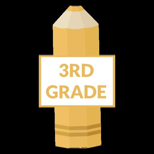 Icono de tercer grado de escuela de lápiz de color