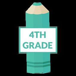 Color pencil school 4th grade icon