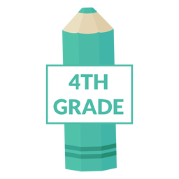 Icono de lápiz de color escuela 4to grado