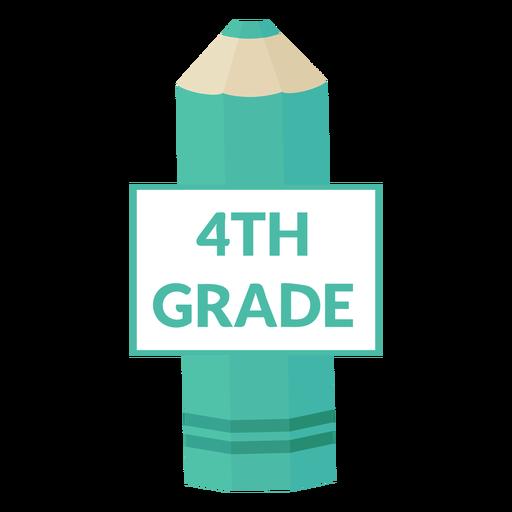 Icono de 4to grado de escuela de lápiz de color