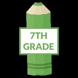 Icono de 7mo grado de escuela de lápiz de color