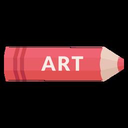 Icono de arte de materia escolar de lápiz de color