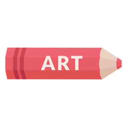 Icono de arte de tema escolar de lápiz de color