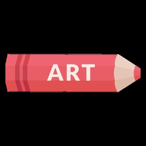 Icono de arte de tema escolar de lápiz de color Transparent PNG