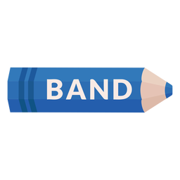 Color pencil school subject band icon