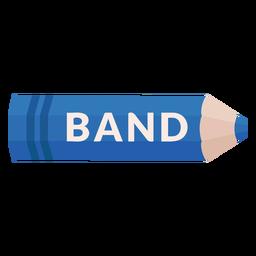 Icono de banda de tema escolar lápiz de color