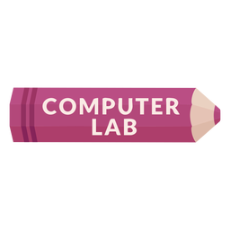 Color pencil school subject computer lab icon