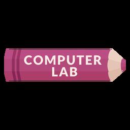 Icono de laboratorio de computación de materia escolar de lápiz de color