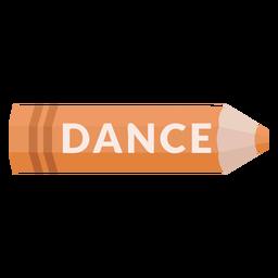 Icono de baile de tema escolar de lápiz de color