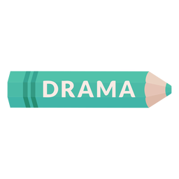 Color pencil school subject drama icon