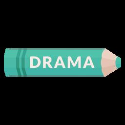 Icono de drama de tema escolar de lápiz de color