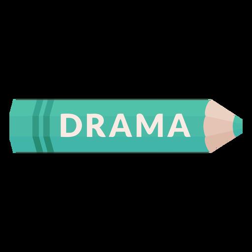 Color pencil school subject drama icon Transparent PNG