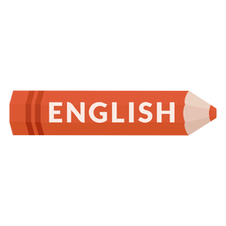 Color pencil school subject english icon