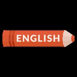 Lápis de cor assunto escolar inglês ícone