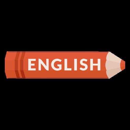 Ícone de inglês da matéria escolar de lápis de cor