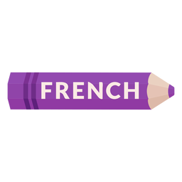 Color pencil school subject french icon