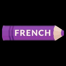 Lápiz de color tema escolar icono francés