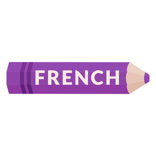 Color pencil school subject french icon Transparent PNG