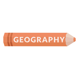 Color pencil school subject geography icon