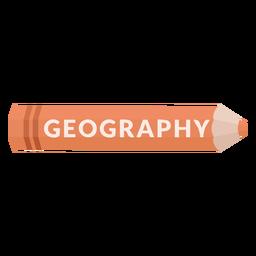 Ícone de geografia da matéria escolar do lápis de cor