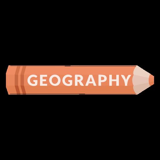 Icono de geograf?a de materia escolar de l?piz de color