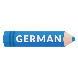 Color pencil school subject german icon