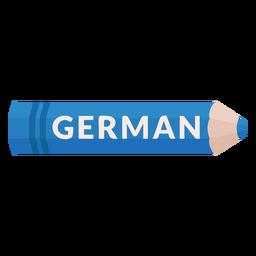 Lápiz de color tema escolar icono alemán
