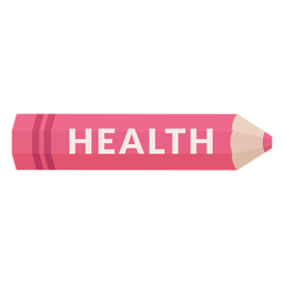 Color pencil school subject health icon