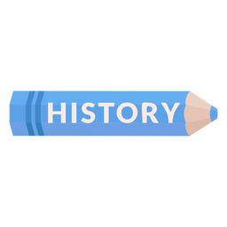 Color pencil school subject history icon