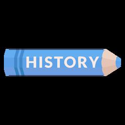 Icono de historia de materia escolar de lápiz de color