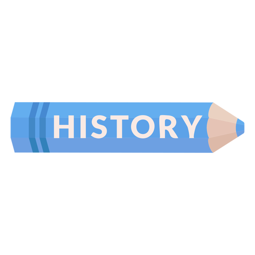 Color pencil school subject history icon Transparent PNG