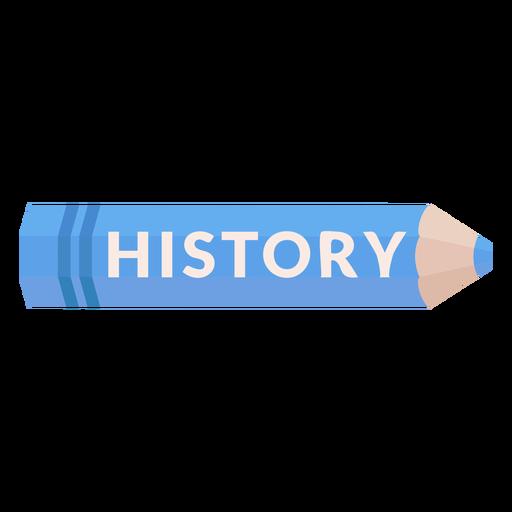 Color pencil school subject history icon