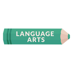 Color pencil school subject language arts icon