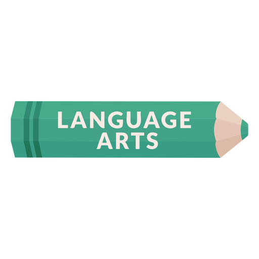 Color pencil school subject language arts icon Transparent PNG