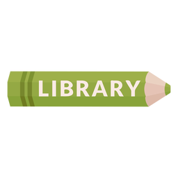 Color pencil school subject library icon
