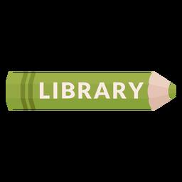 Icono de biblioteca de materia escolar de lápiz de color