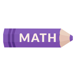 Color pencil school subject math icon